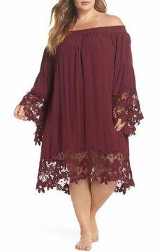 a8be9032ea MUCHE ET MUCHETTE Jolie Lace Accent Cover-Up Dress (Plus size) Nordstroms  Swim