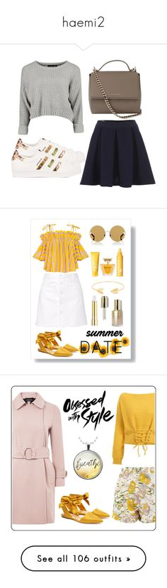 """haemi2"" by vallierre ❤ liked on Polyvore featuring Maison Kitsuné, adidas Originals, Givenchy, Steve J & Yoni P, Sam Edelman, Karen Walker, Clinique, Lancôme, Lord & Taylor and Stila"