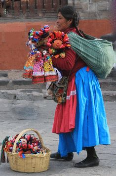 Mexican Oaxacan Doll Vendor in San Miguel de Allende (http://adestefideles.weebly.com/people.html)