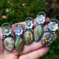 Natural Royston Turquoise and Moonstone Collector by chromafusion