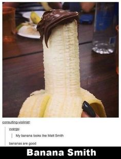 """Doctor Who """"Bananas are cool. Always being bananas to a party."""""""