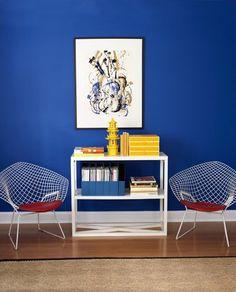 #interior design #blue