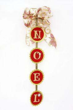 Placa decorativa de Natal - DIY, Christmas, Craft, Upcycled