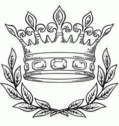 crown drawing Purim coloring pages crown jpg - Clipartix Drawing Tips crown drawing Coloring Pages To Print, Printable Coloring Pages, Coloring Pages For Kids, 1 Tattoo, Tattoo Drawings, Queen Crown Tattoo, Crown Tattoos, Garter Tattoos, Rosary Tattoos
