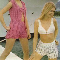 Crochet Bikini Set PDF Vintage Pattern 278 from by wonkyzebra, $2.00