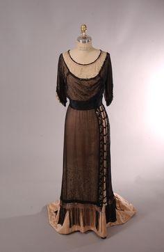 Evening Dress 1915, American, Made of silk