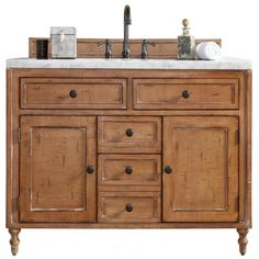 James Martin Furniture James Madison Furniture Copper Cove Single Vanity in Driftwood without Countertop Bathroom Vanity Base, Marble Vanity Tops, Vanity Cabinet, Vanity Sink, Bathroom Cabinets, Dresser Bathroom Vanities, Dresser Sink, Shiplap Bathroom, Bamboo Bathroom