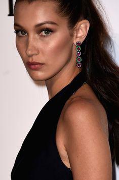 Bella Hadid Dangling Gemstone Earrings - Bella Hadid accessorized with colorful dangling gemstone earrings when she attended the amfAR Cinema Against AIDS Gala.