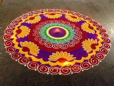Rangoli Side Designs, Easy Rangoli Designs Diwali, Rangoli Designs Latest, Simple Rangoli Designs Images, Free Hand Rangoli Design, Rangoli Ideas, Colorful Rangoli Designs, Beautiful Rangoli Designs, Happy Diwali Rangoli