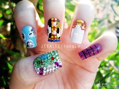 Toy Story Nails by jeealee on DeviantArt Toy Story Nails, Lee Nails, Frozen Nails, Tumblr Nail Art, Cute Simple Nails, Doctor Who, City Nails, Nail Polish Art, Disney Nails