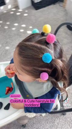Cute Toddler Hairstyles, Easy Little Girl Hairstyles, Baby Girl Hairstyles, Summer Hairstyles, Messy Hairstyles, Belle Hairstyle, Girl Hair Dos, Hair Doo, Short Hair Styles