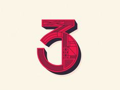 3 typography austin block lettering shape line pattern illustration logo number 3 Typography Letters, Graphic Design Typography, Types Of Lettering, Hand Lettering, Block Lettering, Steve Wolf, Element Symbols, Wolf Design, Branding
