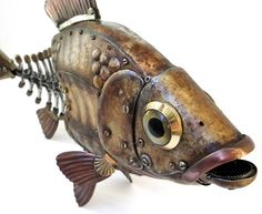 Russian Steampunk | Fish. Artwork by Russian steampunk sculptor Igor Verniy