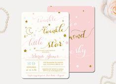Twinkle Twinkle Little Star Baby Shower by WisemonkeyPaperie