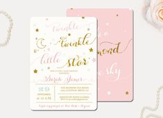 Twinkle Twinkle Little Star Baby Shower by WisemonkeyPaperie