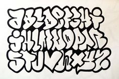 ABC Flop Graffiti Alphabet Sketches by Sameroner