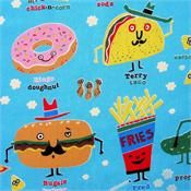 Snappy Snack on Blue by Alexander Henry Fabrics 7853 DR