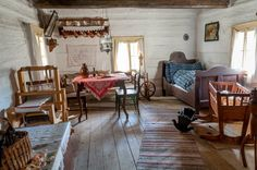 Living like it's the in modern-day Vlkolinec, Slovakia. In this UNESCO World Heritage Site, things have remained largely unchanged for several hundred years. Traditional Interior, Traditional House, Cottage Interiors, Cozy Cottage, Eastern Europe, Future House, Interior Architecture, Country, Modern