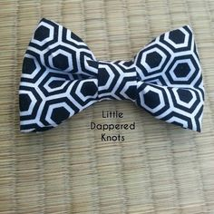 Black and white bowtie for boys boys by LittleDapperedKnots