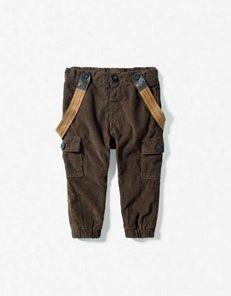 Zara baby pants with suspenders.