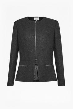 Elly Wool Flannel Jacket - Coats & Jackets - Great Plains