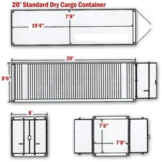 1000 images about shipping container home on pinterest for Shipping container sizes for homes