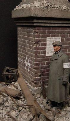 """""""Deutscher Volkssturm"""" Wrocław Poland 1/35 Scale Model Diorama"""