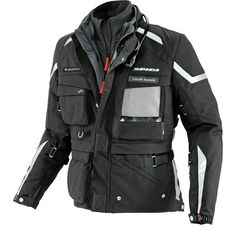 The Spidi Men's Ergo 365 Expedition H2Out Armored Textile Jacket is perfect for adventure riding!