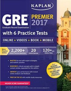 Kaplan GRE Premier 2017 with 6 Practice Tests PDF | GRE Premier 2017 with 6…