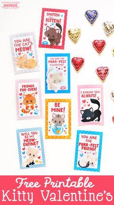 Free Printable Kitten Valentines