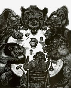 """""""Disarmament Conference"""", illustration by Fritz Eichenberg, 1977// In Praise of the Anthropomorphic: Design Observer"""