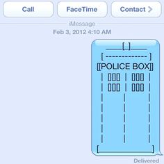 A iMessage from The Doctor :D