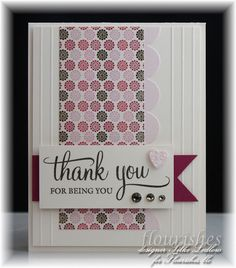 Happy TGIF...here is a sweet *Thank You* card for you all! The FLLC team is showing off some of their favorite stamp sets...so come by and check it out!