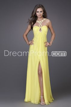Sexy Beaded Halter Straps Sleeveless Floor-length Empire A-line New Prom Dresses