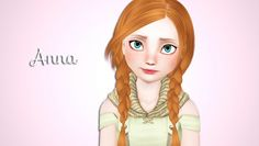 Anna of Arendelle by Morganabanana - Sims 3 Downloads CC Caboodle