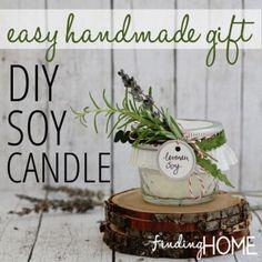 DIY Soy Candle easy handmade gift idea