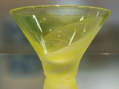 ぐい呑み - 天開杯 黄色 - ガラス~サンドブラスト~貴方だけの一品を - ガラス工房 そよ風