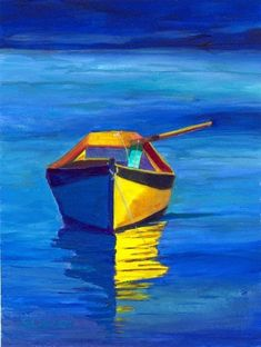 Yellow Photography, Object Photography, Boat Illustration, Sailboat Art, Boat Painting, Illustrations, Art Techniques, Painting Inspiration, Online Art