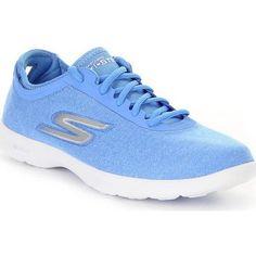 dikke Skechers go stepvital dames sneakers (Blauw)