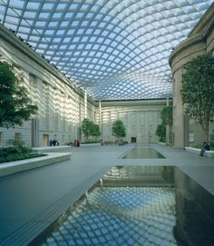 Kogod Courtyard at the Smithsonian Reynolds Center for American Art and Portraiture by landscape architects Gustafson Guthrie Nichol (Photo: Timothy Hursley)