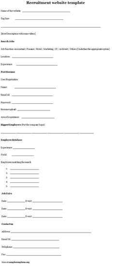 23-HR-Recruitment-Formpng (806×2938) Recruiter Forms Pinterest - recruitment request form