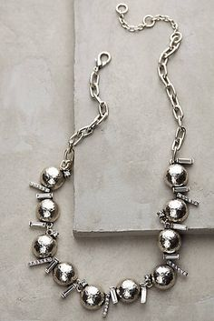 Glinted Orbit Bib Necklace