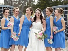 MARY + TREVOR's amazing wedding is now featured on their photographers's blog! Their blue topaz bridesmaid dresses from Farren Couture turned out a great hit at their wedding!
