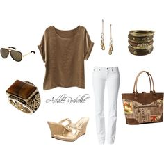 Gold Chocolate, created by ashlee470 on Polyvore