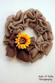 Burlap wreath - it would look beautiful with a starfish and some shells embellishing it.