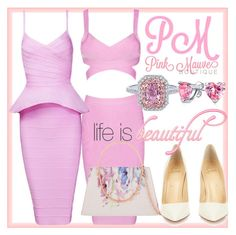 """""""Pink Mauve Boutique - Pink Dresses"""" by pinkmauveboutique ❤ liked on Polyvore featuring Christian Louboutin, Ted Baker and Bling Jewelry"""