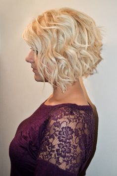 Cute Curly Inverted Bob Hairstyles                              …