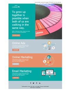 Tu empresa de Marketing y Publicidad crecerá con el impacto de campañas de email marketing elaboradas con diseños como éste, disponibles en la aplicación Mailify.