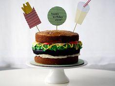 Pastel de hamburguesa en Recetas de pasteles, pastelitos y bizcochos, de como preparar, cocinar y hornear