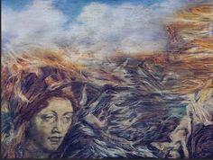 Austin Osman Spare - The Bones Go Last [Austin Osman Spare: Cockney Visionary. Austin Osman Spare, English Artists, Image Archive, Sabbats, Portraits, Surreal Art, Amazing Art, Pastels, Watercolours